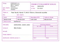 Sample Príjmový pokladničný doklad - A6