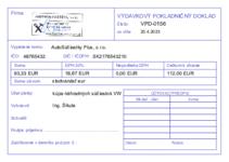 Vzor Výdavkový pokladničný doklad - A6